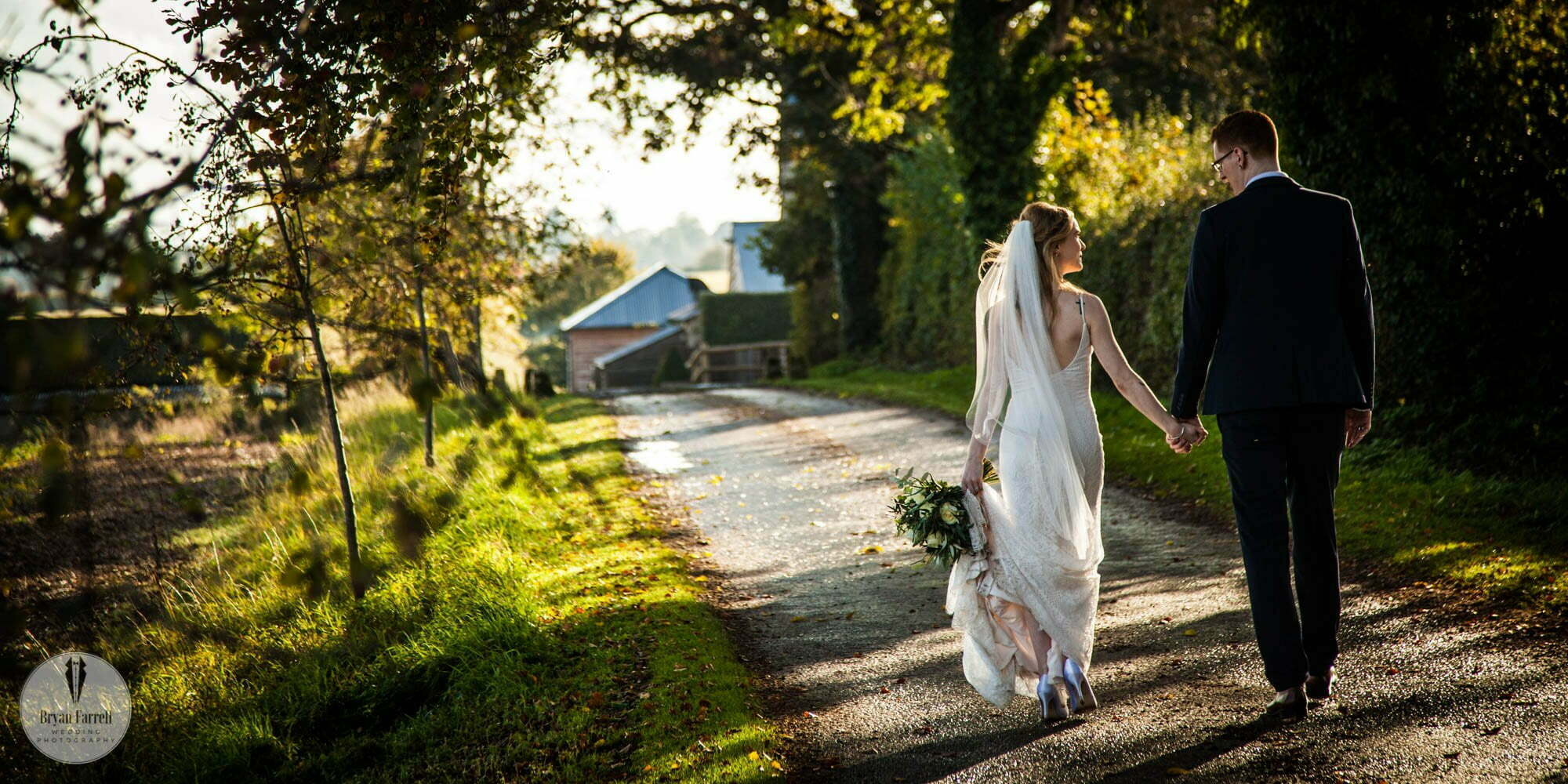 Autumn wedding at Cripps Barn.