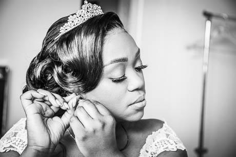 bride getting ready for her wedding - Wedding Photographer in Lancashire