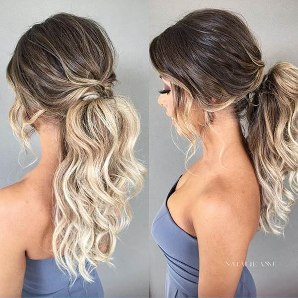wedding hairstyles - A Pretty Ponytail