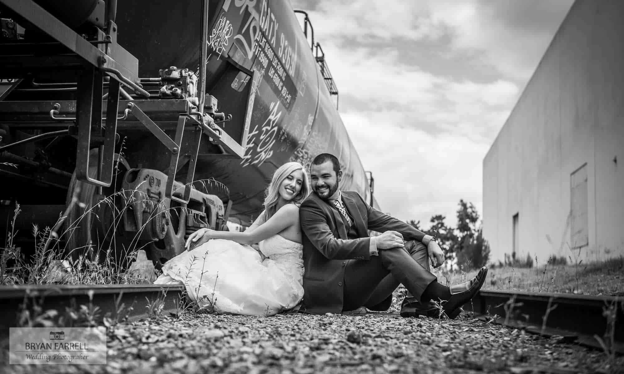romantic moments for a bride and groom