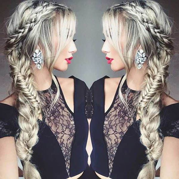 Gorgeous Side Fishtail Braid With Side Sweep