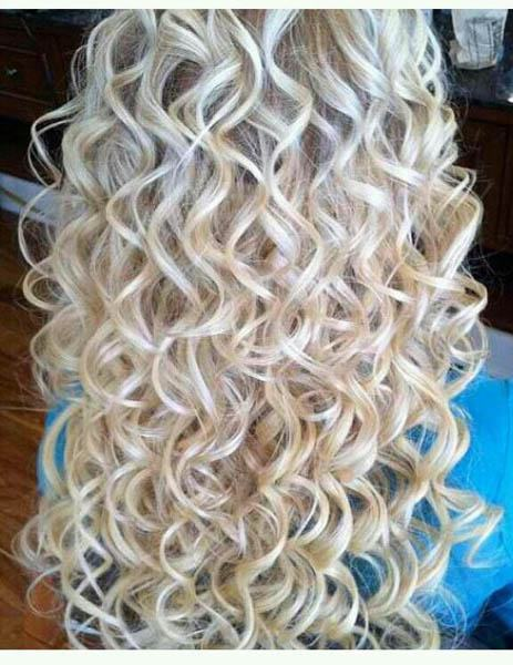 Long Spiral Curls With Rounded Front Fringes