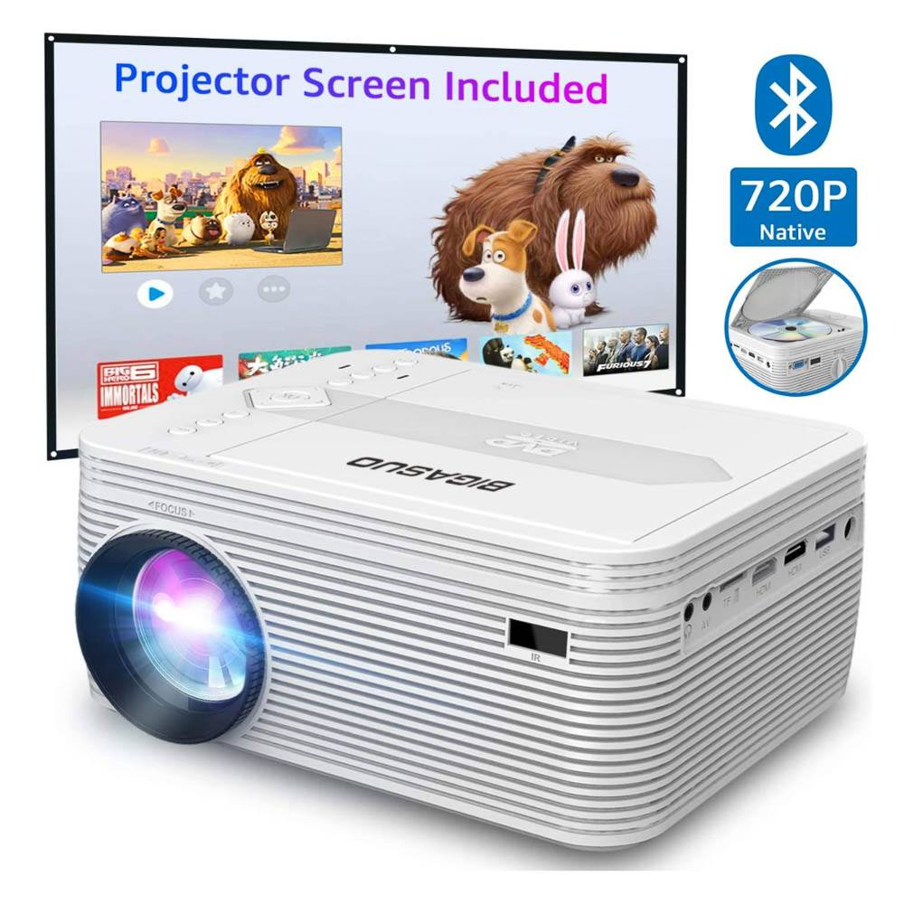 Mini Bluetooth Projector with DVD Player 1