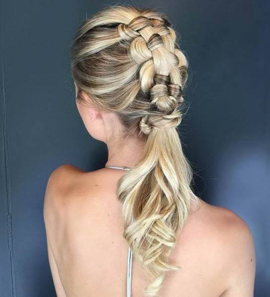 wedding hairstyles - Puffy French Braid With Spiral End