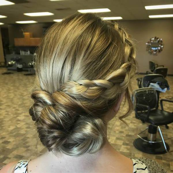 Royal Twisted Updo With Side Sweep