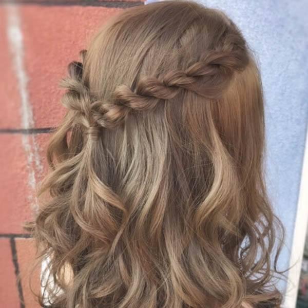 wedding hairstyles - Simple Half-Braided Style