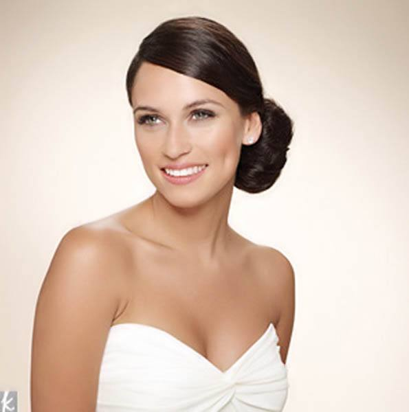 wedding hairstyles - Smooth Low Side Bun