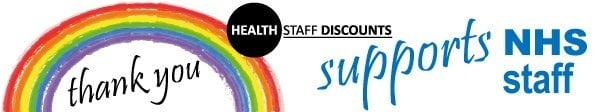 NHS rainbow banner