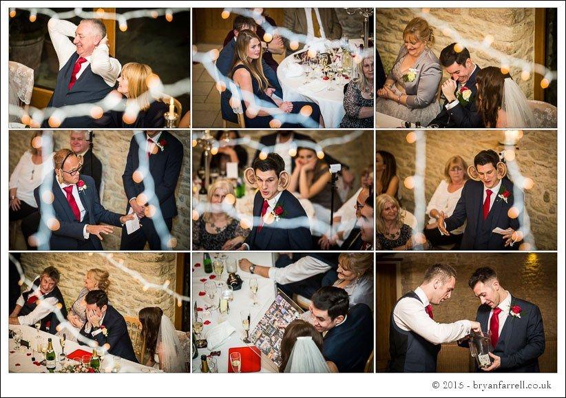 kingscote barn wedding photographers GA 108