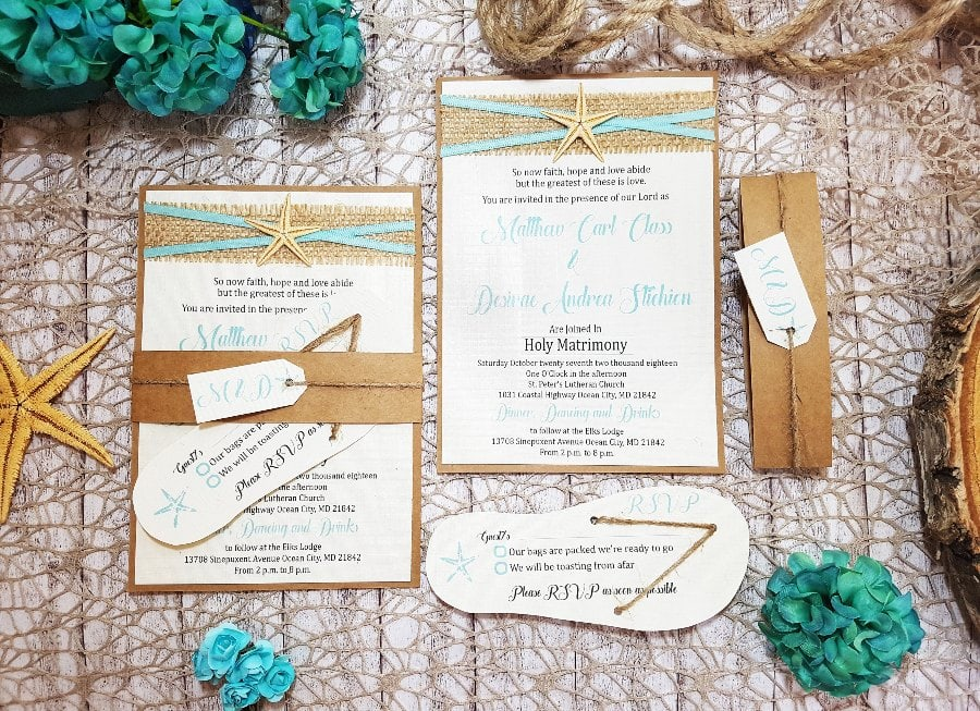 wedding invitation ideas flipflop