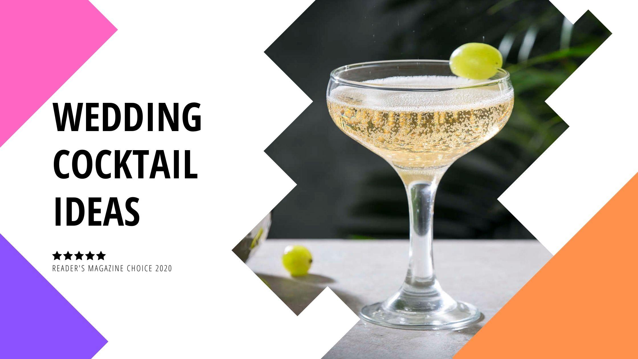 wedding cocktail ideas