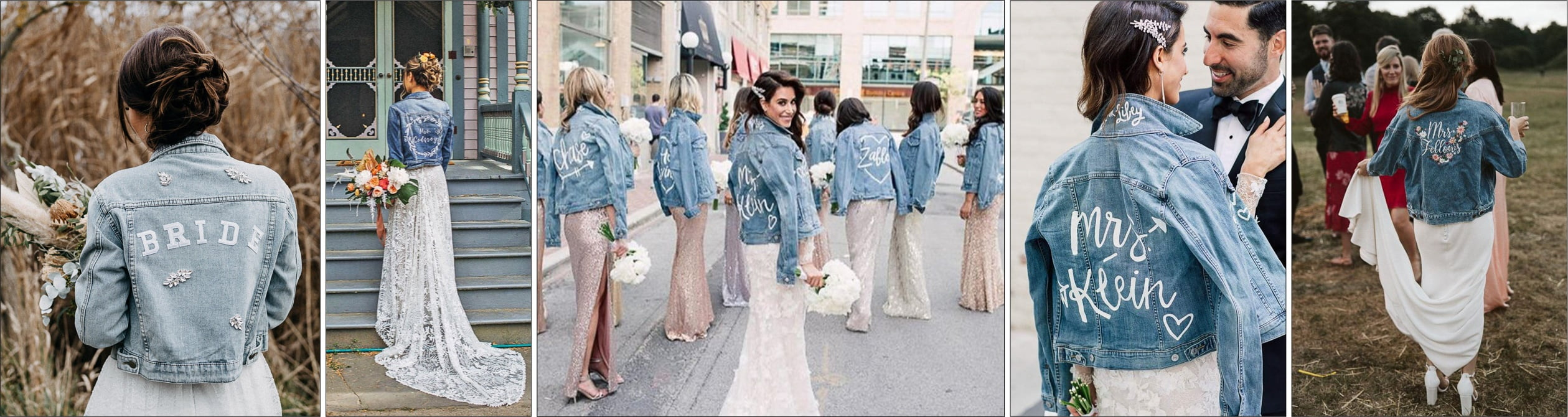 Demin Jean Jackets for weddings