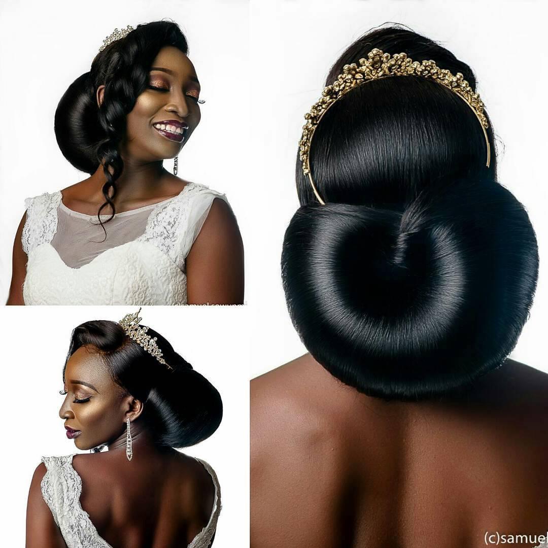 Wedding hair for black women 19