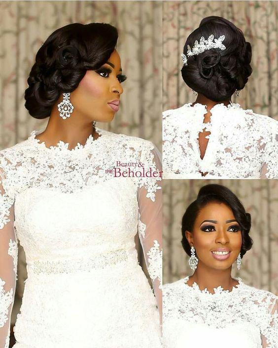 Wedding hair for black women 34